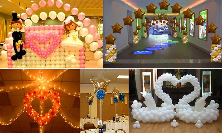 Свадебный декор в зале своими руками