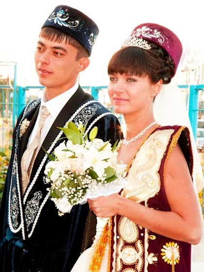 Букет на татарской свадьбе