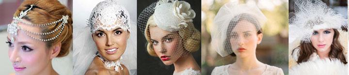 Красивые головные уборы невесты бывают