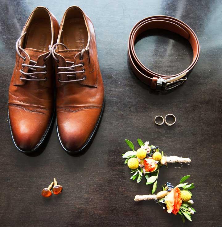 Выбор коричневого ремня на свадьбу