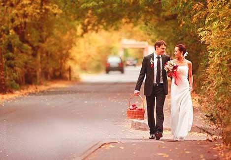 осення свадьбы