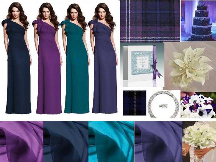 Платье павлина цвета