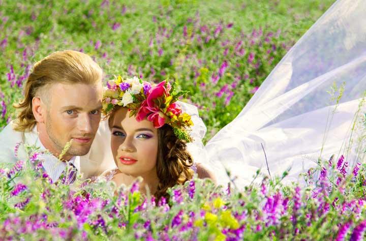 Пышный природный образ невесты
