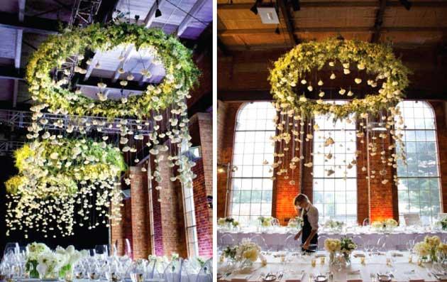 Люстра рустик на свадьбе