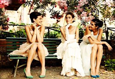 Подружки невесты и свадьба в винтажном стиле