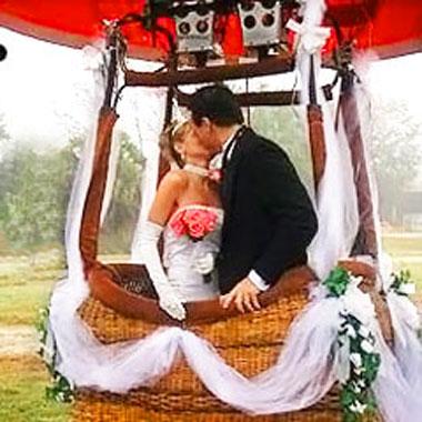 Как организовать свадьбу на воздушном шаре