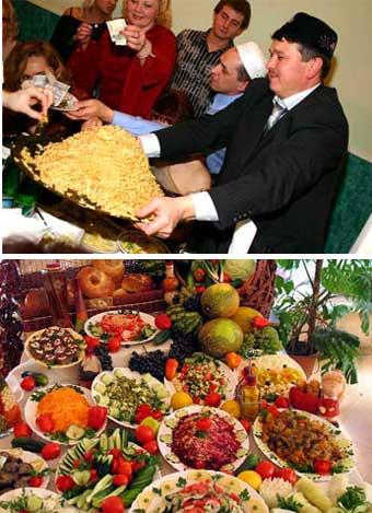 Стол на татарской свадьбы