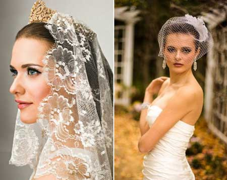 Фата невесты как головной убор