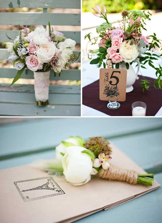 Флористика французской свадьбе