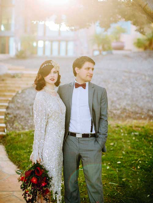 Цвет винтажной свадьбы и костюмы