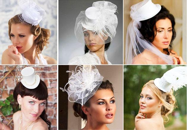 Шляпки и головные уборы невесты