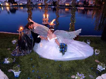 Невеста в образе ангела