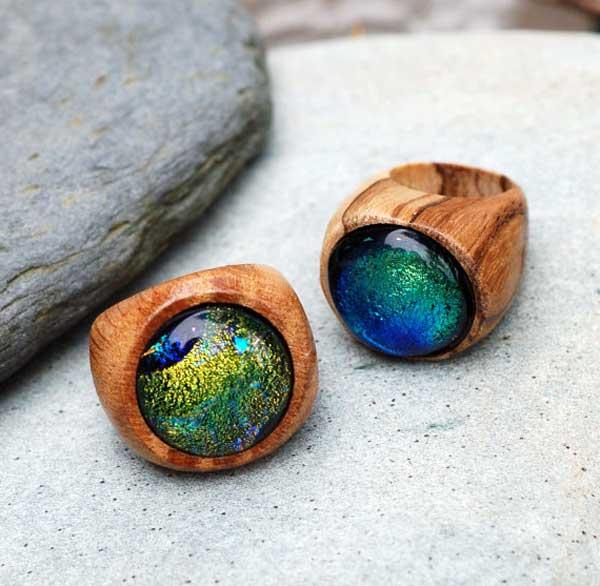 деревянные-кольца