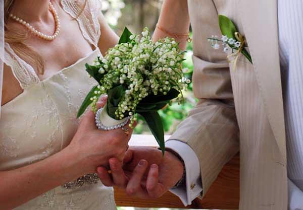 букет на зеленую свадьбу