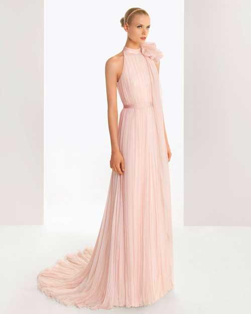 розовое-платье