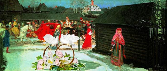 Возвращение традиций: свадебный поезд
