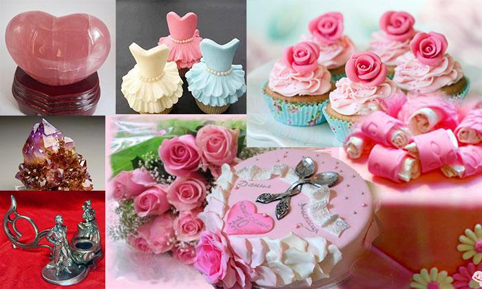 Розовые подарки на свадьбу 66