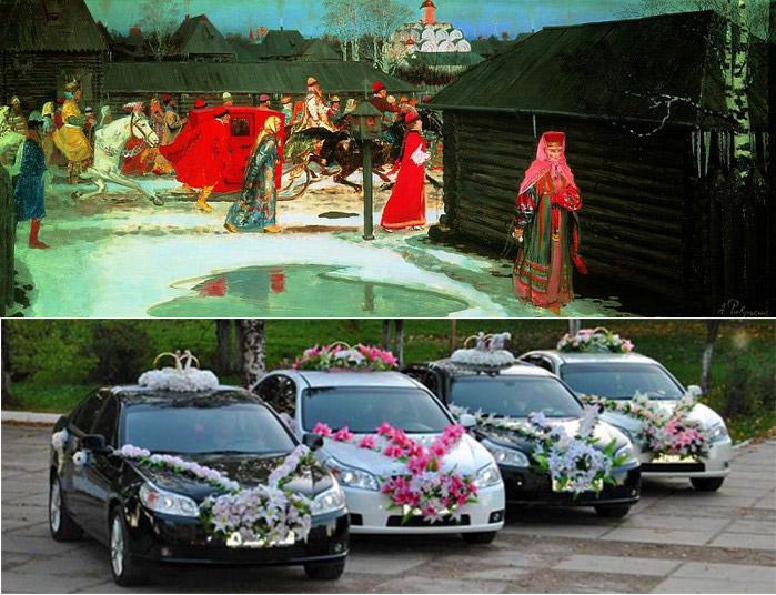 Традиции и современность свадебного поезда