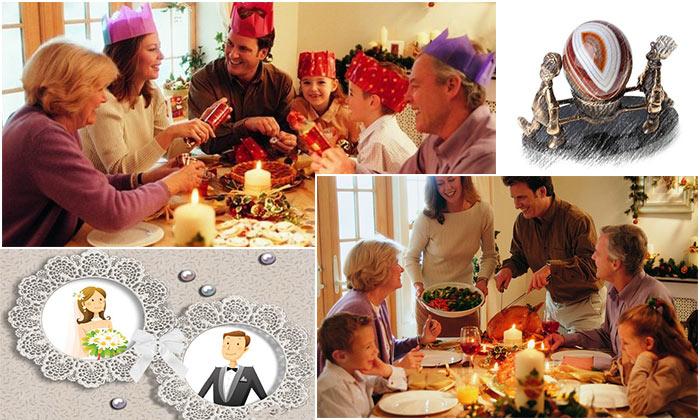 Открытка с молодоженами, и семейные праздники