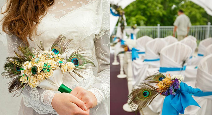 Букет невесты и интерьер свадьбы