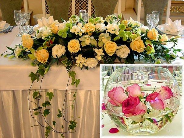 выбор цветов для украшения свадьбы