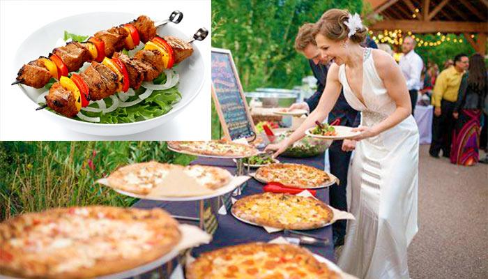 Горячие блюда для фуршета на свадьбу