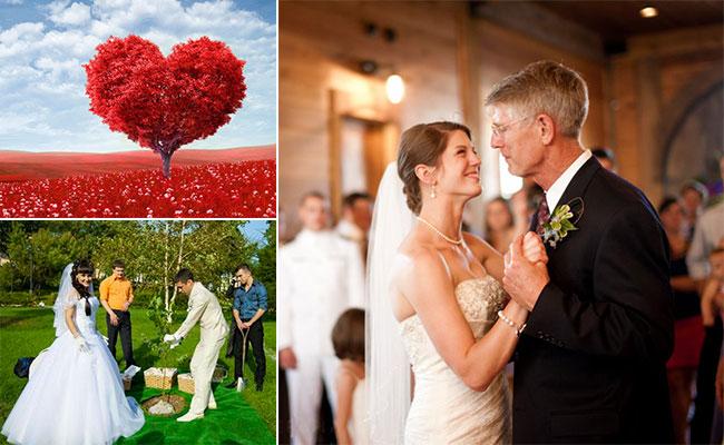 дерево любви и танец с отцом на свадьбу
