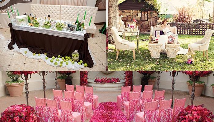 Места отдыха на свадебном фуршете