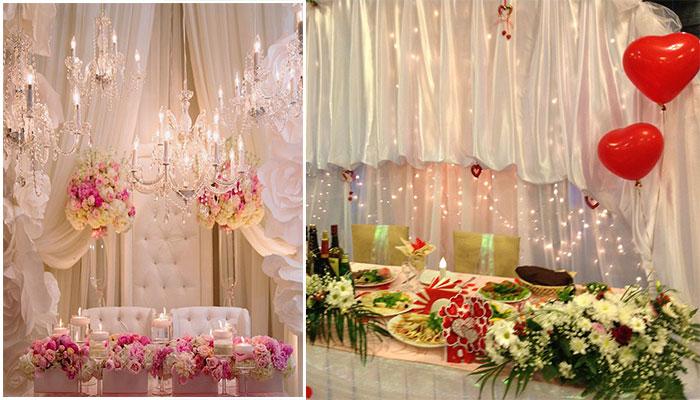 Оформление зон для свадебной фотосессии