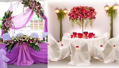 Свадьбные виды украшений цветами