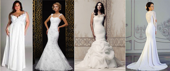 Приталенные свадебные платья