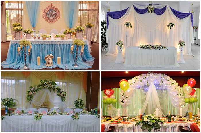 Свадебное оформление мест молодых