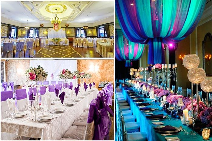 Свадебное оформление столов гостей