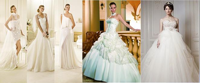 Свадебное платье с декольте