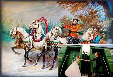 свадебный поезд