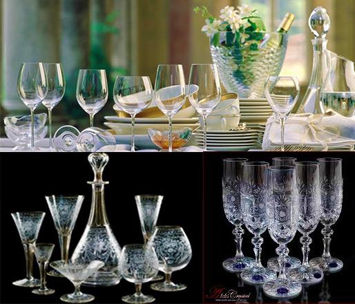 Сервировка стола на хрустальную свадьбу