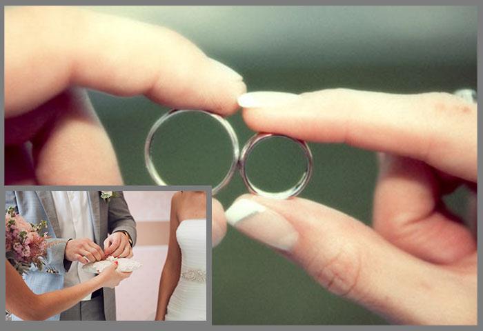 Серебряная свадьба - обмен кольцами