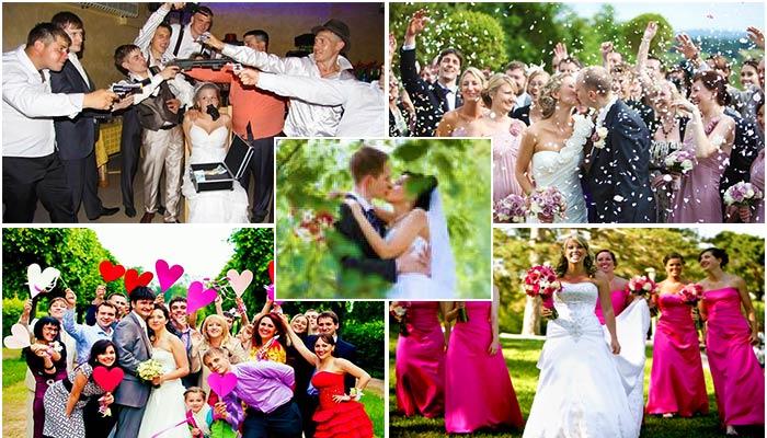 Сюжеты свадьбы для фотоальбома
