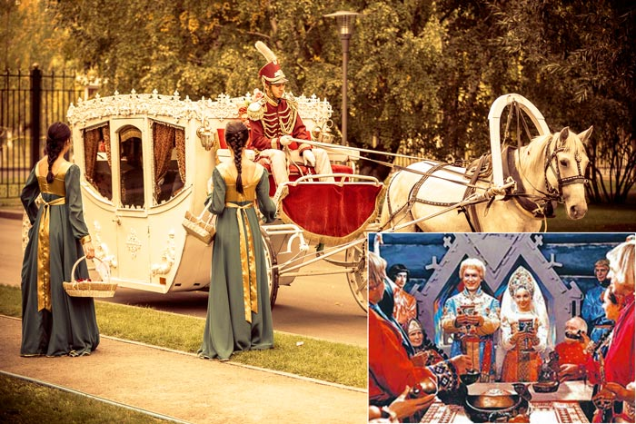 традиции в стиле свадебный поезд