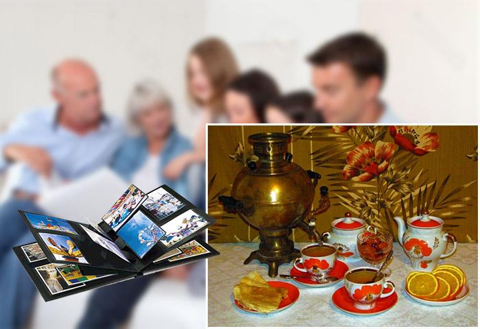 Семейное чаепитие на каменную свадьбу