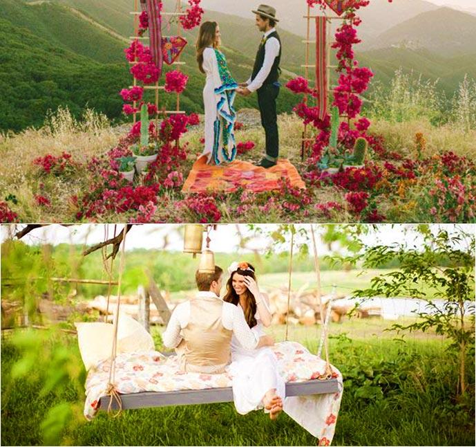элементы декора свадьбы в стиле бохо