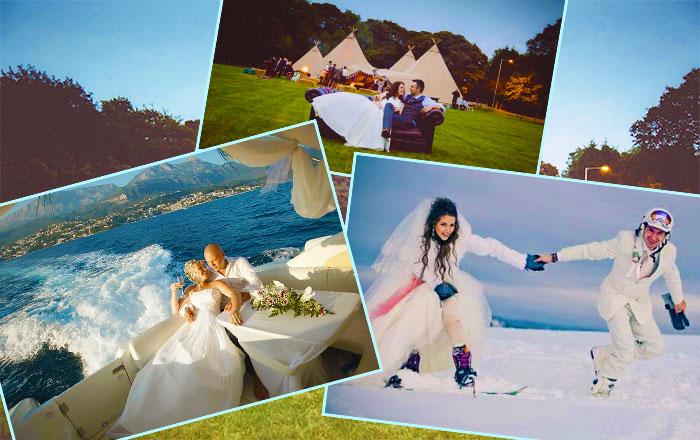 Выбор нестандартного места проведения креативной свадьбы