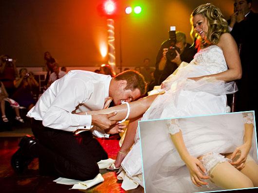 Зачем нужна подвязка невесте на свадьбе?