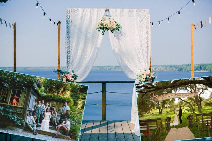Место проведения маленькой свадьбы