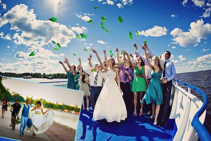 Оригинальная свадебная прогулка