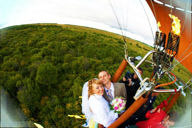 Свадебная прогулка на воздушном шаре