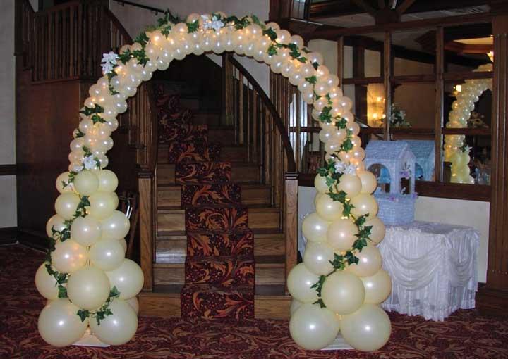 Свадебные шары и арка