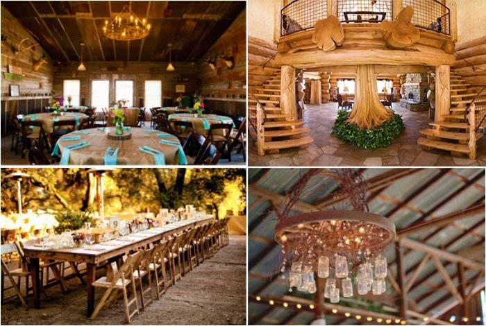 Деревянное оформление свадьбы в ресторане