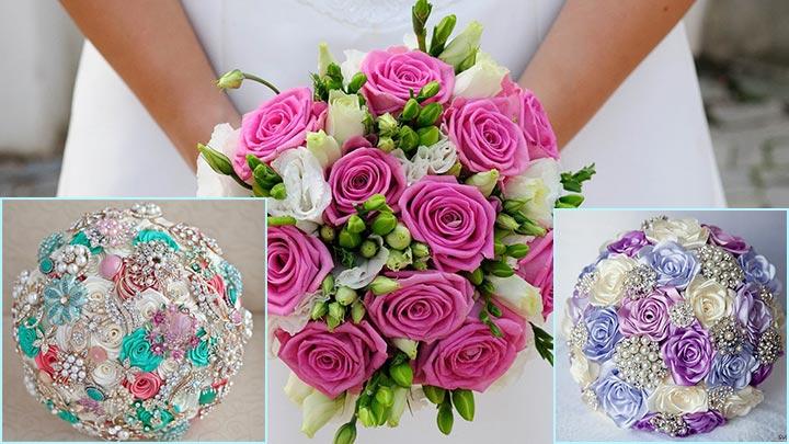 круглая форма букета невесты