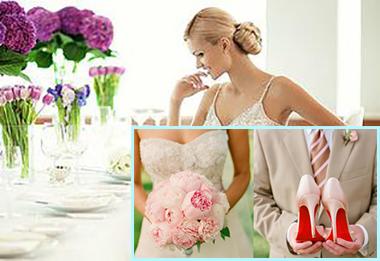 Невеста, цветы и туфли